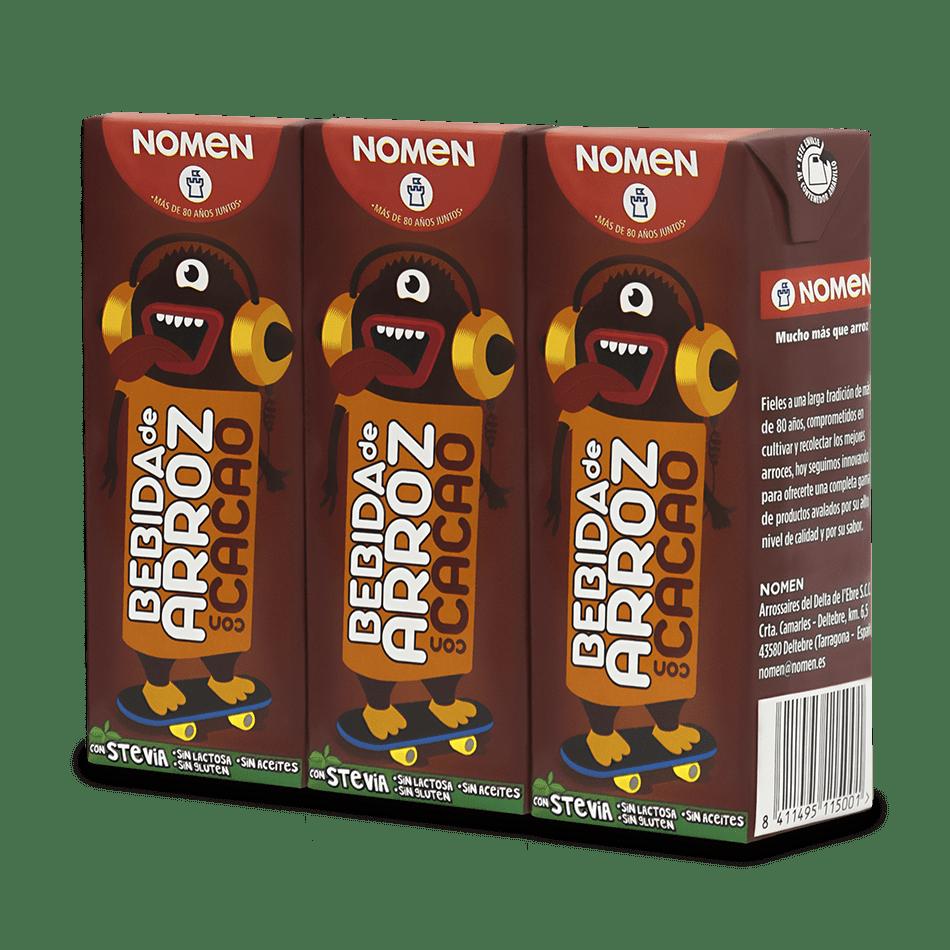 Bebida de arroz con cacao – pack de 3u
