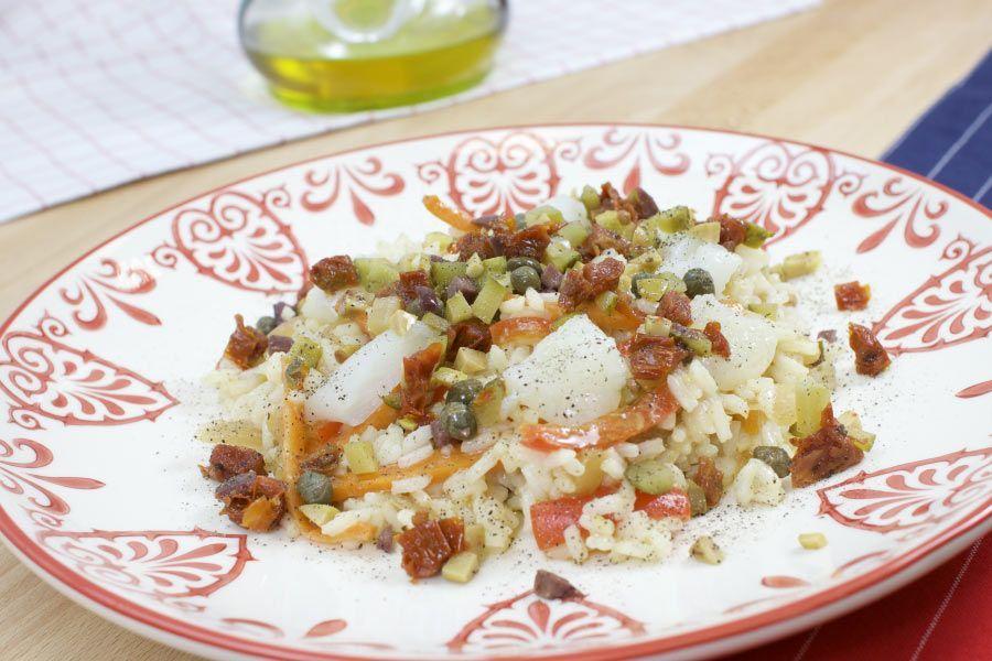 arroz con verduras al horno