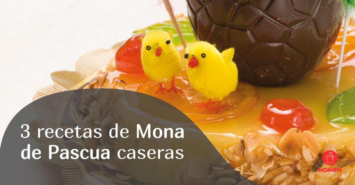 Recetas caseras parar elaborar tus monas de Pascua