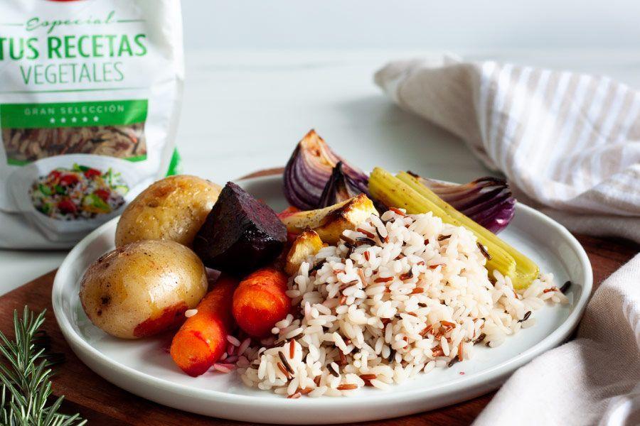Receta arroz con verduras al horno