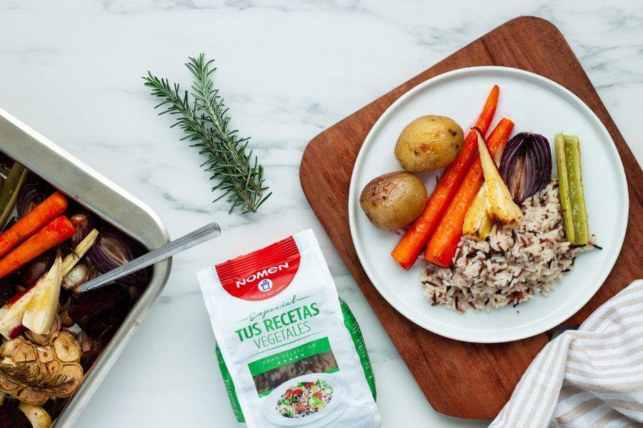 receta de arroz con verduras al horno, paso 3