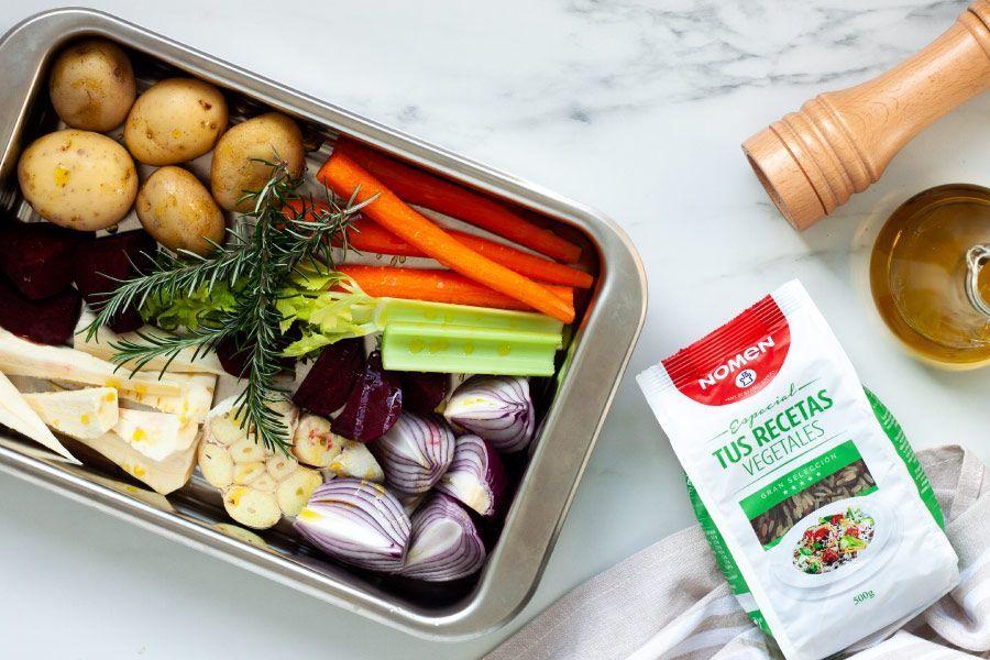 receta de arroz con verduras al horno, paso 1