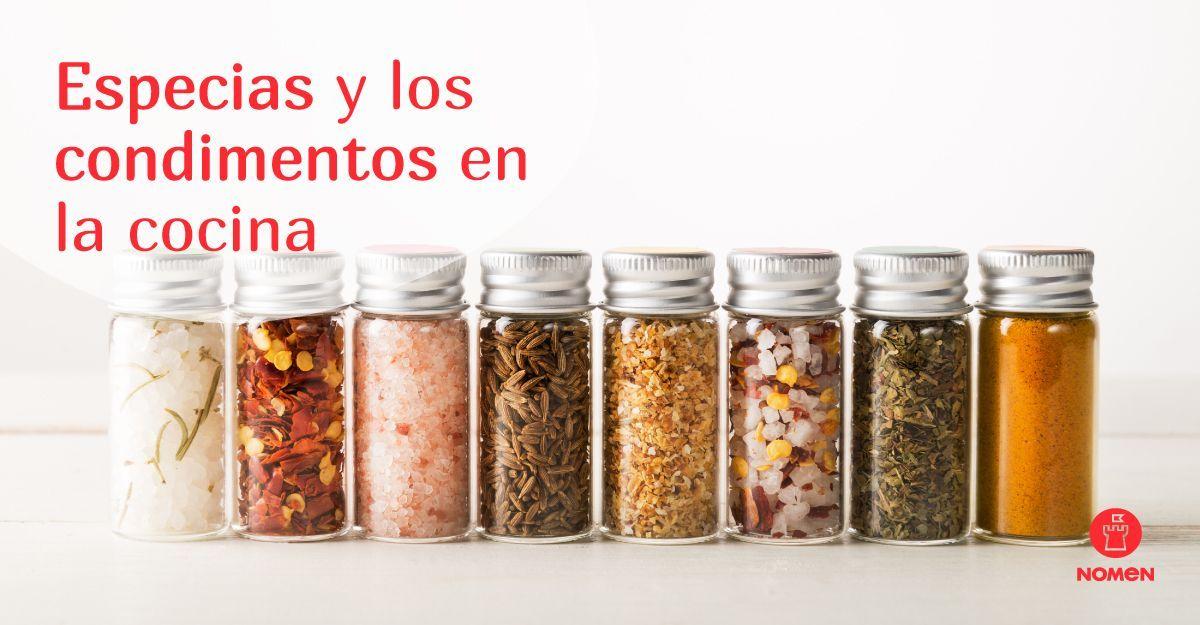 Especias y condimentos en la cocina