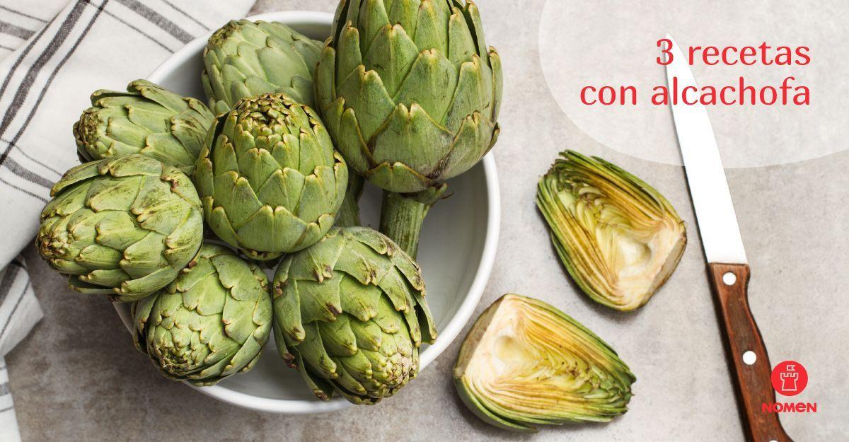 3 recetas con alcachofa